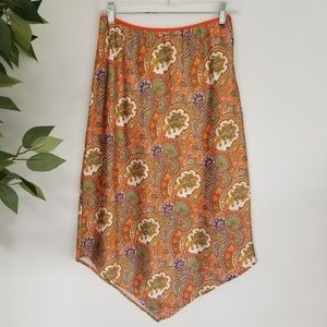Vintage 70's Style Multi Color Paisley Skirt Sz S